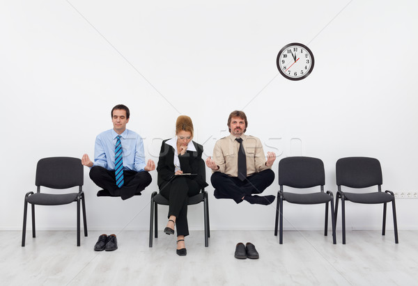 Feeling a slight handicap - people waiting for the job interview Stock photo © lightkeeper