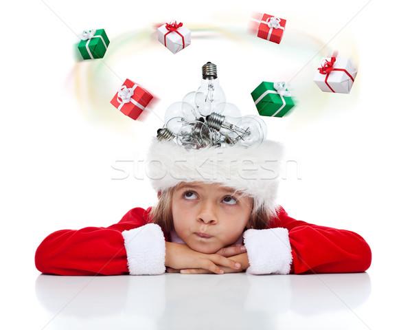 m ssen weihnachten geschenk idee kleines m dchen vorliegenden stock foto nagy. Black Bedroom Furniture Sets. Home Design Ideas