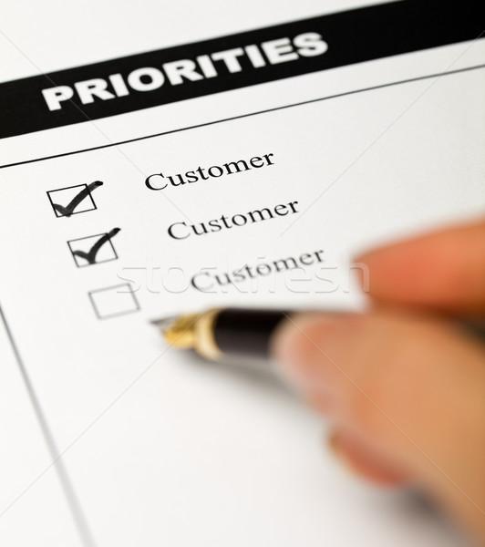 Affaires valeurs client employé enquête forme Photo stock © lightkeeper