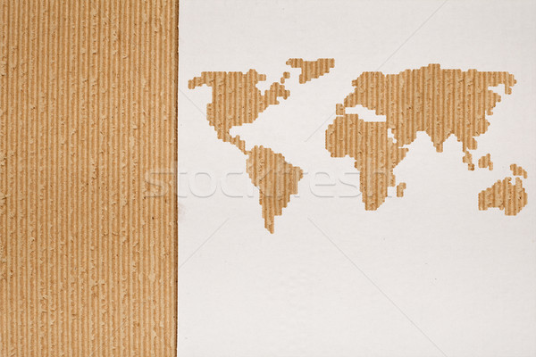 Cardboard background series - global shipping concept Stock photo © lightkeeper