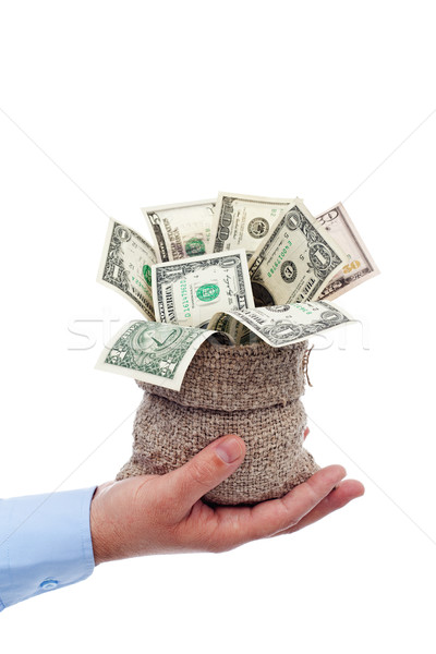 Dollars overflowing from a bag Stock photo © lightkeeper