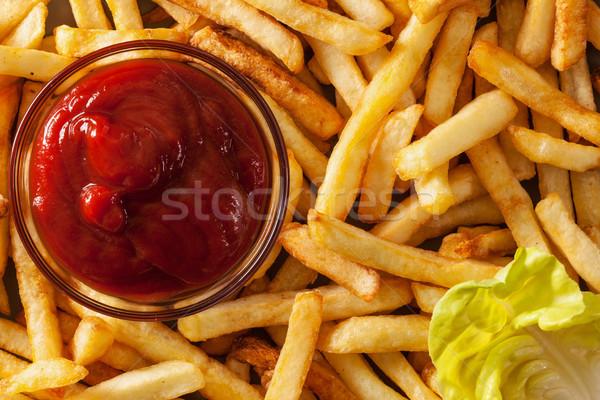 картофель фри кетчуп Top мнение фон Сток-фото © lightkeeper