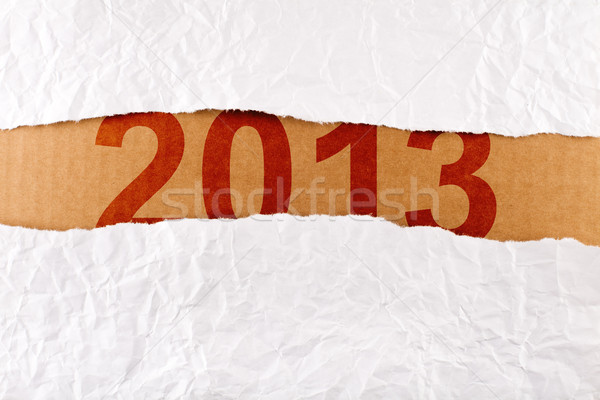 Stock photo: Unwrapping a brand new year