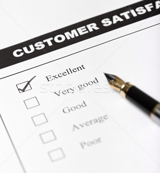 Customer satisfaction survey form with pen - closeup Stock photo © lightkeeper