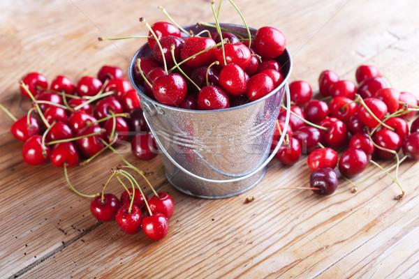 Ciliegie fresche estate frutti dieta Foto d'archivio © lightkeeper