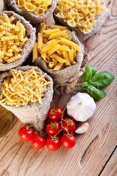 Pasta variety and specific cooking ingredients Stock photo © lightkeeper