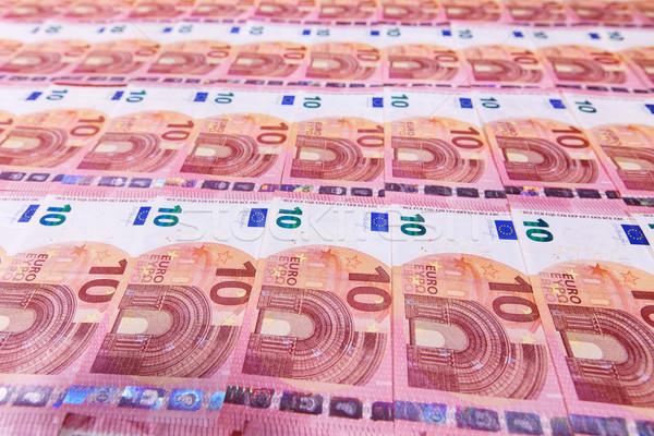 Small ten euro banknotes Stock photo © lightkeeper