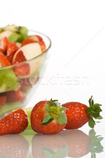 Eprek gyümölcssaláta közelkép tükröződő felület nyár Stock fotó © lightkeeper