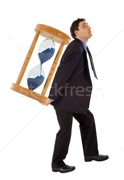 Businessman working under pressure - isolated Stock photo © lightkeeper