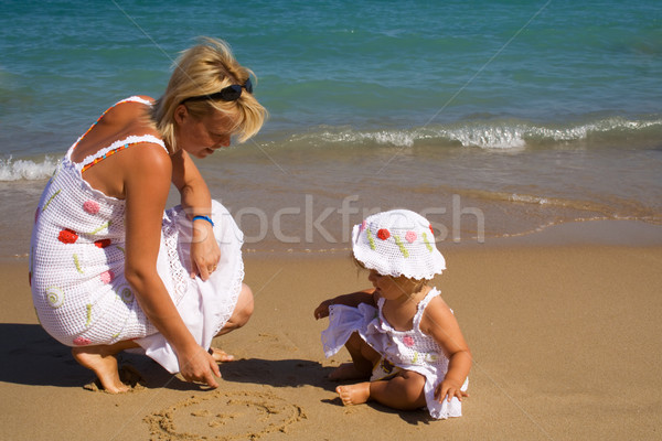 Drawing in the sand Stock photo © lightkeeper