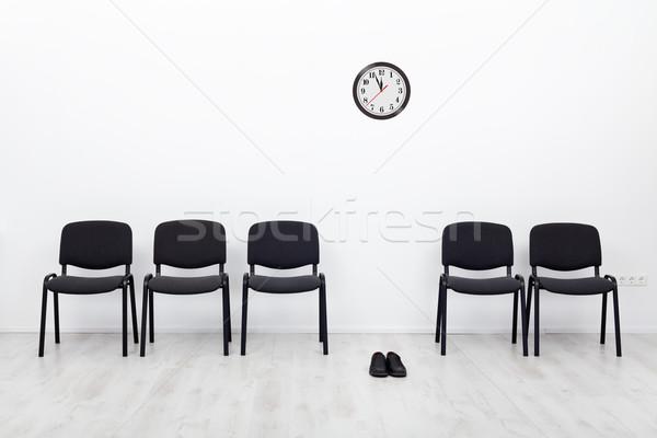 Iflas iş başarısızlık sandalye çift Stok fotoğraf © lightkeeper