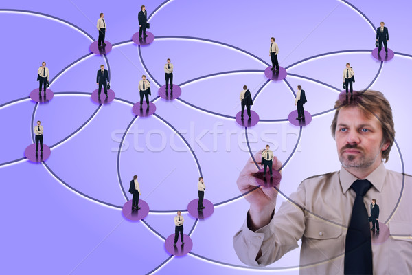 Usado negócio social networking marketing Foto stock © lightkeeper