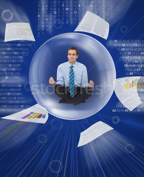 Stock photo: Keep your balance in the digital information overload
