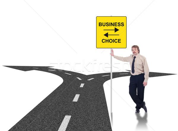 Difícil negócio empresário Foto stock © lightkeeper