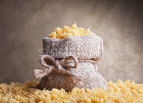Pasta in burlap bag Stock photo © lightkeeper