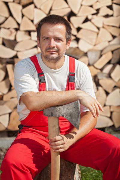 Stok fotoğraf: Ahşap · işçi · kırmak