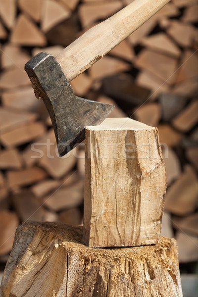 Chopping firewood detail Stock photo © lightkeeper