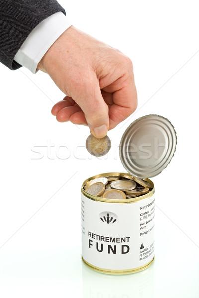 старший человека стороны монеты пенсия фонд Сток-фото © lightkeeper