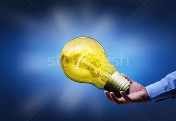Businessman taking control of digital information flow Stock photo © lightkeeper
