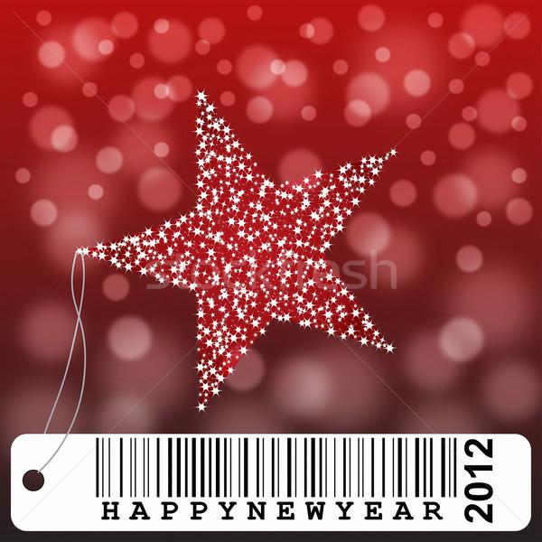 New year greeting card illustration Stock photo © lightkeeper