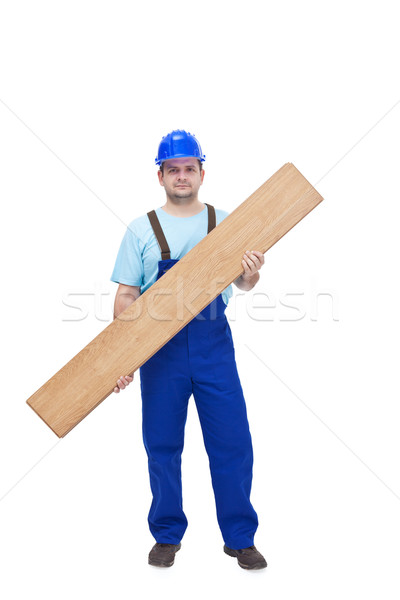 Worker carrying laminate flooring Stock photo © lightkeeper