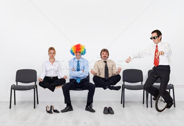 Crazy день служба люди беспокойный бизнеса Сток-фото © lightkeeper