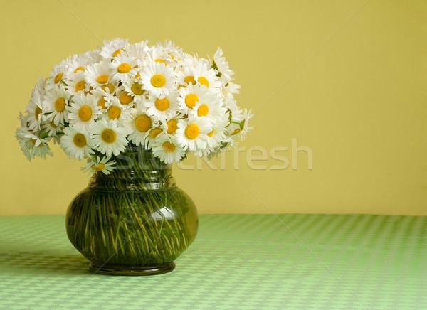 Grande Daisy bouquet vaso ricca vetro Foto d'archivio © lightkeeper