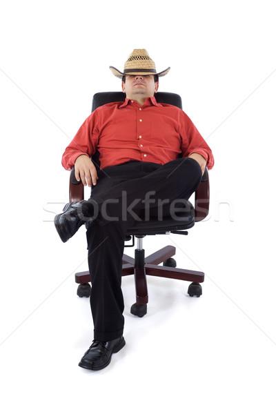 Cahil ofis işadamı iş adam sandalye Stok fotoğraf © lightkeeper