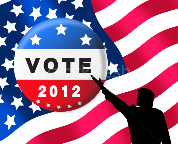 American presidential elections banner Stock photo © lightkeeper