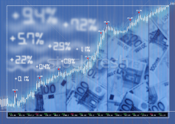 Bolsa mercado diagrama dinero negocios Internet Foto stock © lightkeeper