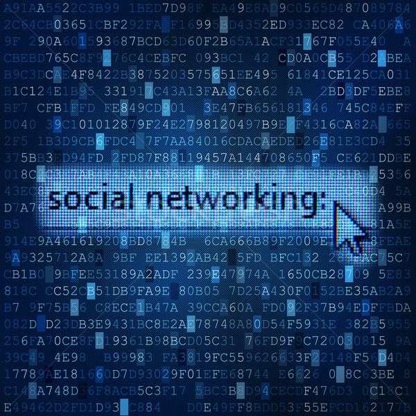 Sociale networking digitale media dati Foto d'archivio © lightkeeper