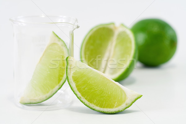 Green lime setup with chemical research recipient Stock photo © lightkeeper