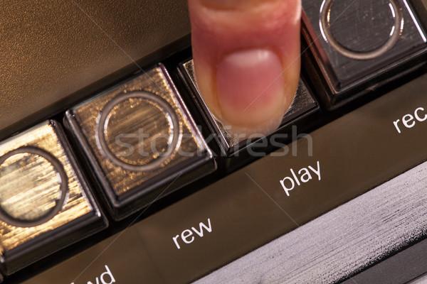 Ujj kisajtolás retro játék gomb klasszikus Stock fotó © lightkeeper