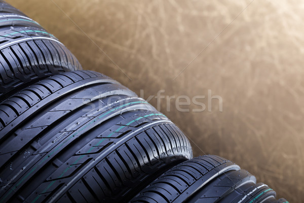 New rubber car tires closep Stock photo © lightkeeper