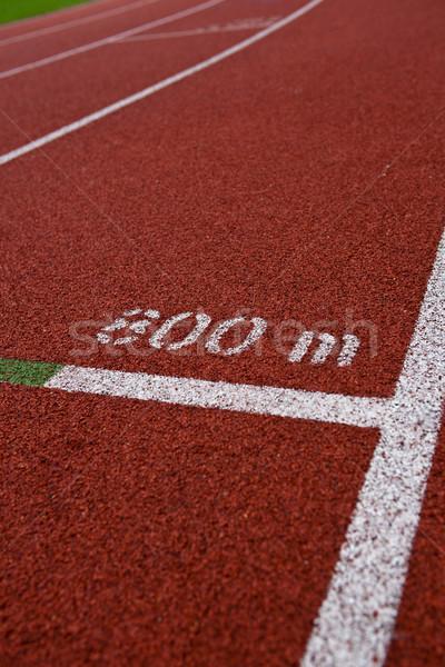 Sport atlétika útvonal sáv számok tavasz Stock fotó © lightpoet