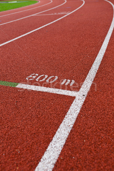 Sport grounds concept - Athletics Track Lane Numbers  Stock photo © lightpoet