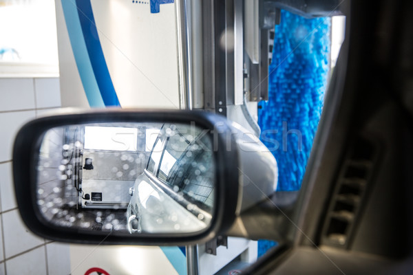 Car in a carwash - view from the interior of the vehicle Stock photo © lightpoet