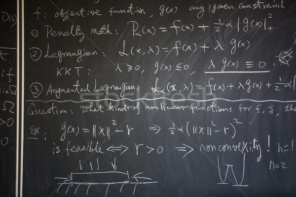 Lavagna math lezione scritto istruzione insegnante Foto d'archivio © lightpoet
