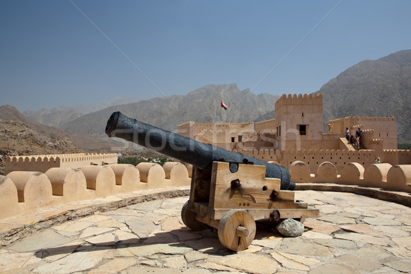 Old canon on the top of the Nakhl Fort Stock photo © lightpoet