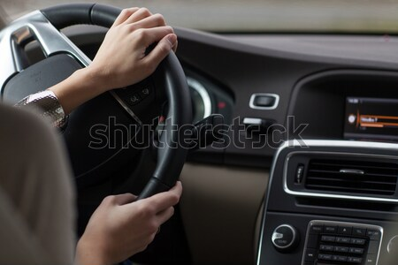 Young woman driving a modern car Stock photo © lightpoet