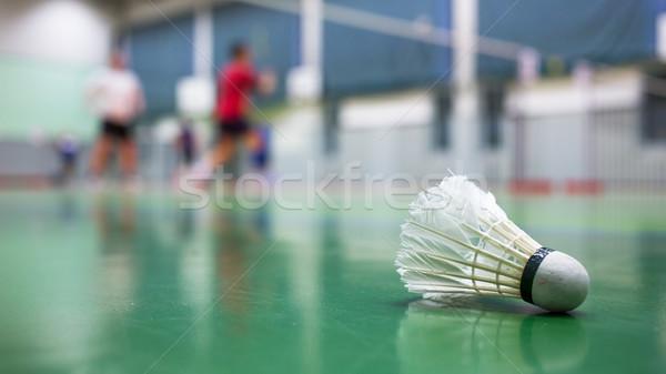 Badminton jogadores diversão pena acelerar Foto stock © lightpoet