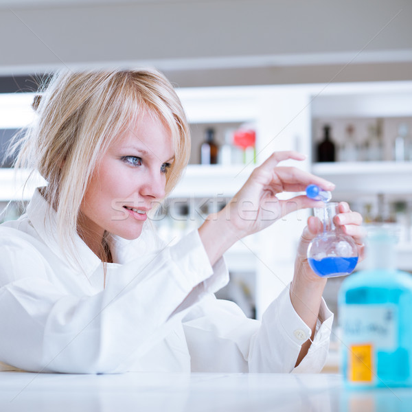 female researcher  in a chemistry/biochemistry lab Stock photo © lightpoet