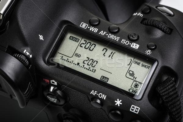 Profi modern dslr kamera részlet felső Stock fotó © lightpoet