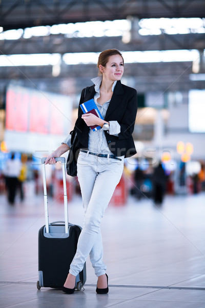 かなり 小さな 女性 空港 浅い ストックフォト © lightpoet
