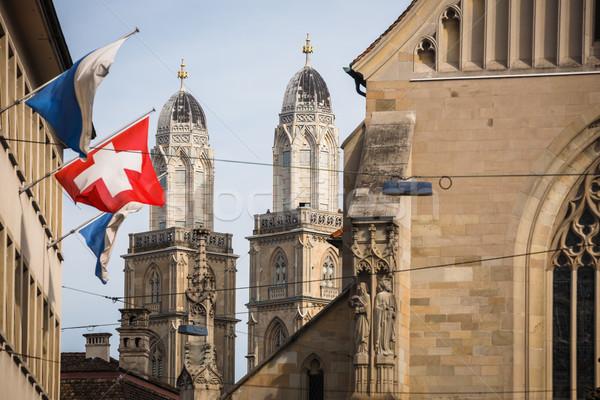 Zurych Szwajcaria za kościoła shot Zdjęcia stock © lightpoet