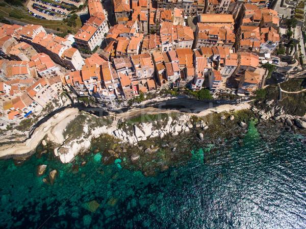 Photo stock: Vieille · ville · calcaire · falaise · côte