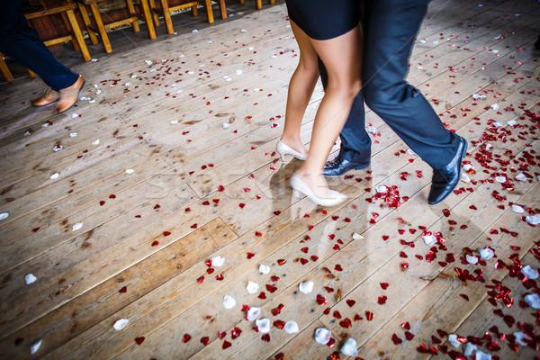 Couple danse piste de danse mariage célébration mouvement Photo stock © lightpoet