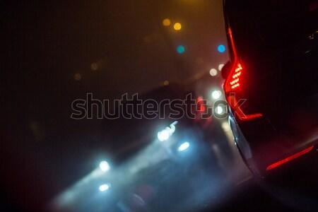 город автомобилей движения автомобилей дороги воздуха Сток-фото © lightpoet