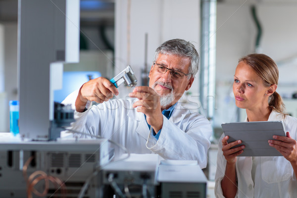 старший химии лаборатория цвета компьютер служба Сток-фото © lightpoet