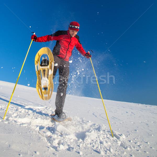 Moço ao ar livre inverno dia esportes Foto stock © lightpoet